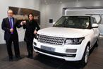 First Customer Handover at Land Rovers New Visitor Centre