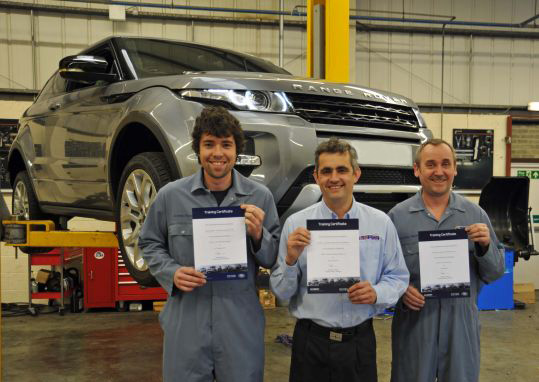 Evoque Introduction course at the Land Rover Technical Academy