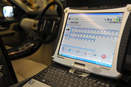Latest Land Rover Diagnostic System SDD2 in Car Diagnostic in progress
